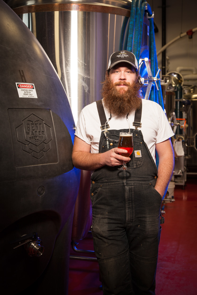 John Erik Strom, Head Brewer at Bent Water Brewing Co. in Lynn, MA Established in 2015