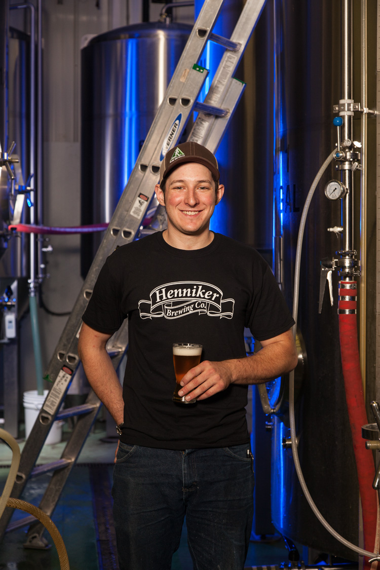 Devin Bush, Head Brewer at Henniker Brewing Co. Henniker, NH Est. 2011