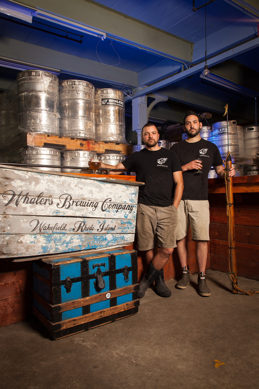 Wesley Staschke and Josh Dunlap, Brewers at Whalers Brewing Co. South Kingston, RI Est. 2011