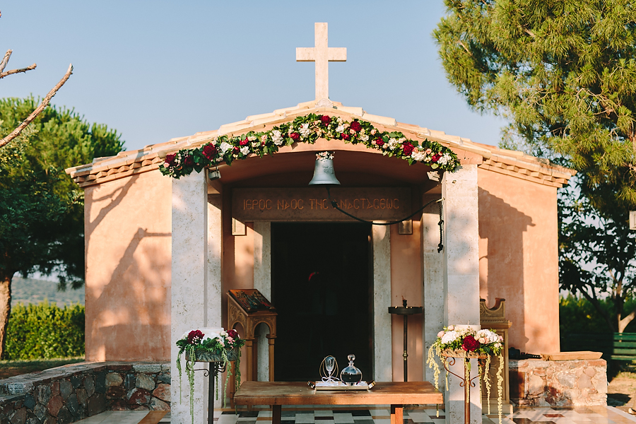 Wedding in Athens Lux Vineyard Church Ceremony