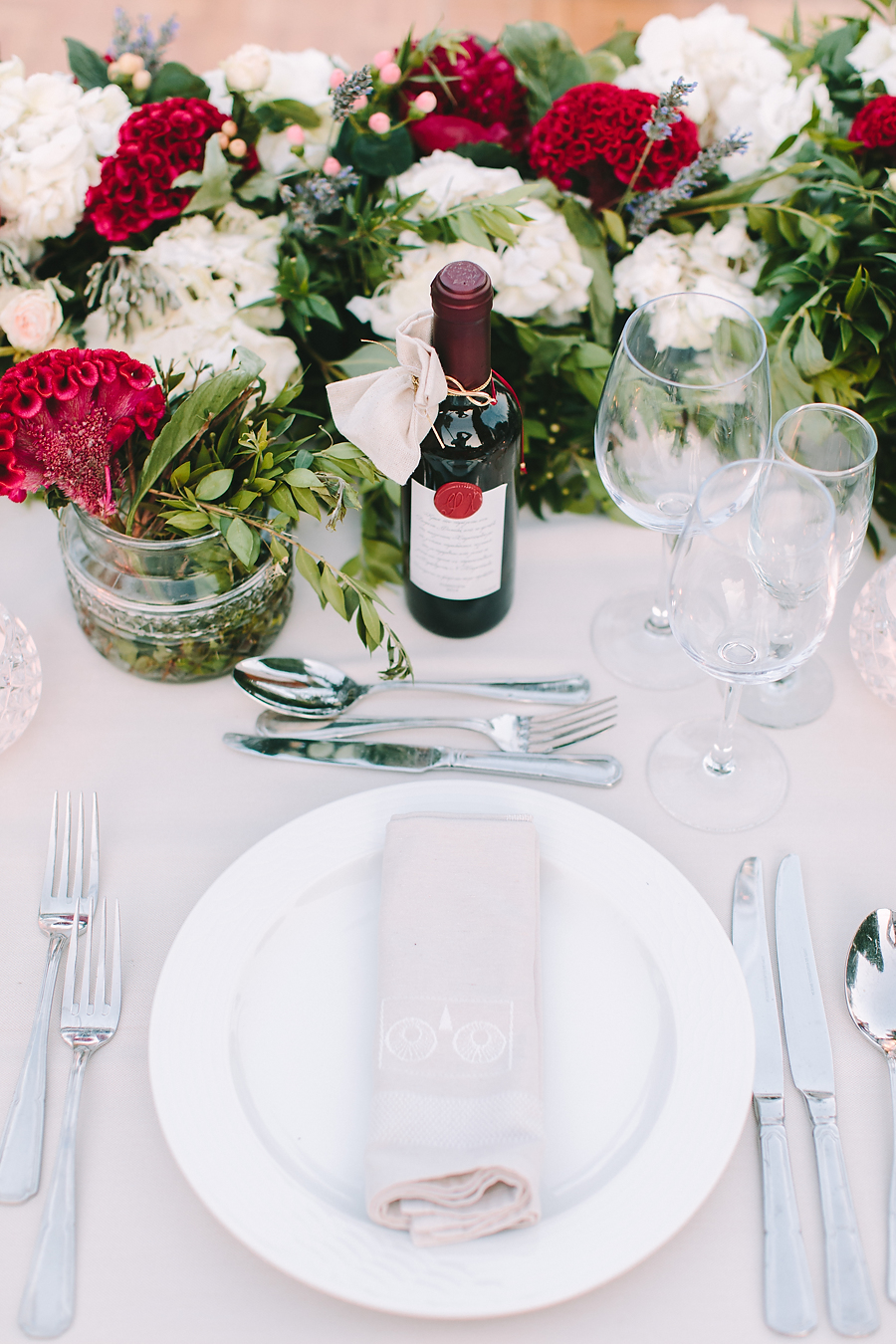Wedding in Athens Lux Vineyard Table Arrangement Art de la Table
