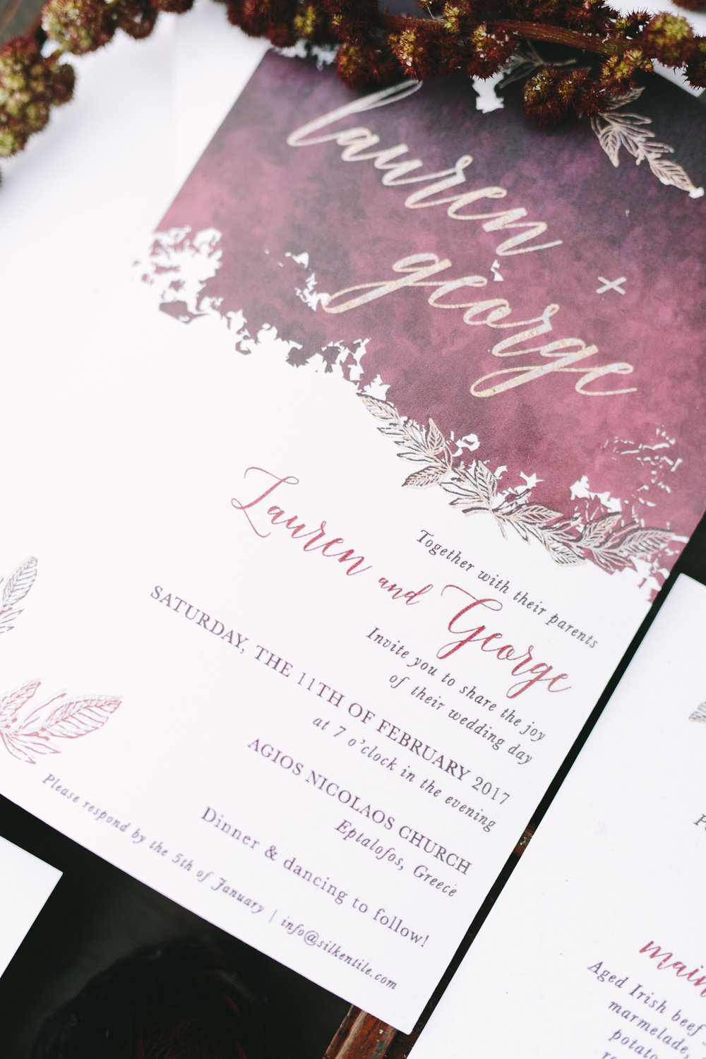 wedding-invitation-design-stationery-gold-foil-burgundy-destination-wedding