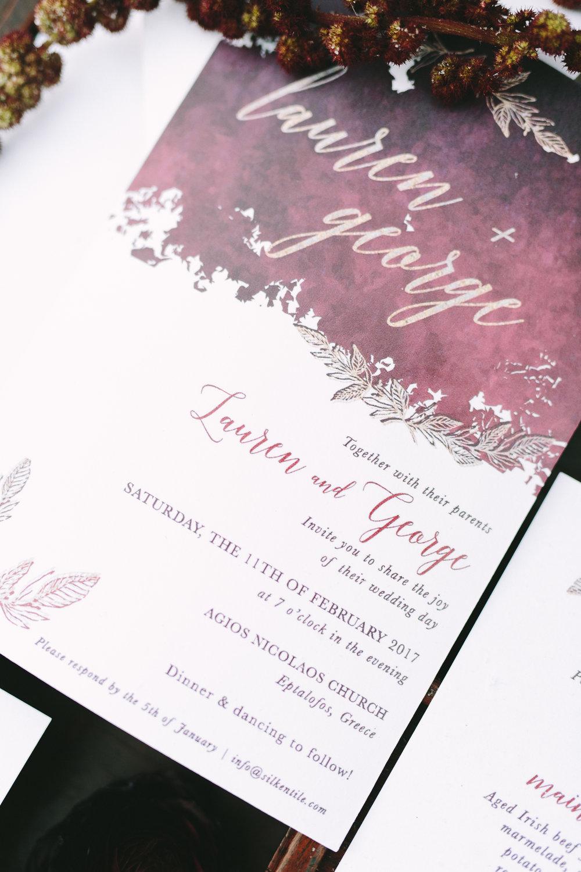 wedding-invitation-design-stationery-gold-foil-burgundy-destination-wedding