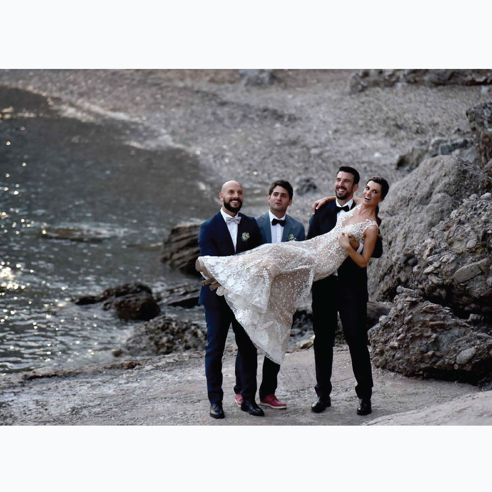 wedding-dress-konidi-designer-bestmen-groom-bride-greek-riviera-wedding-ceremony