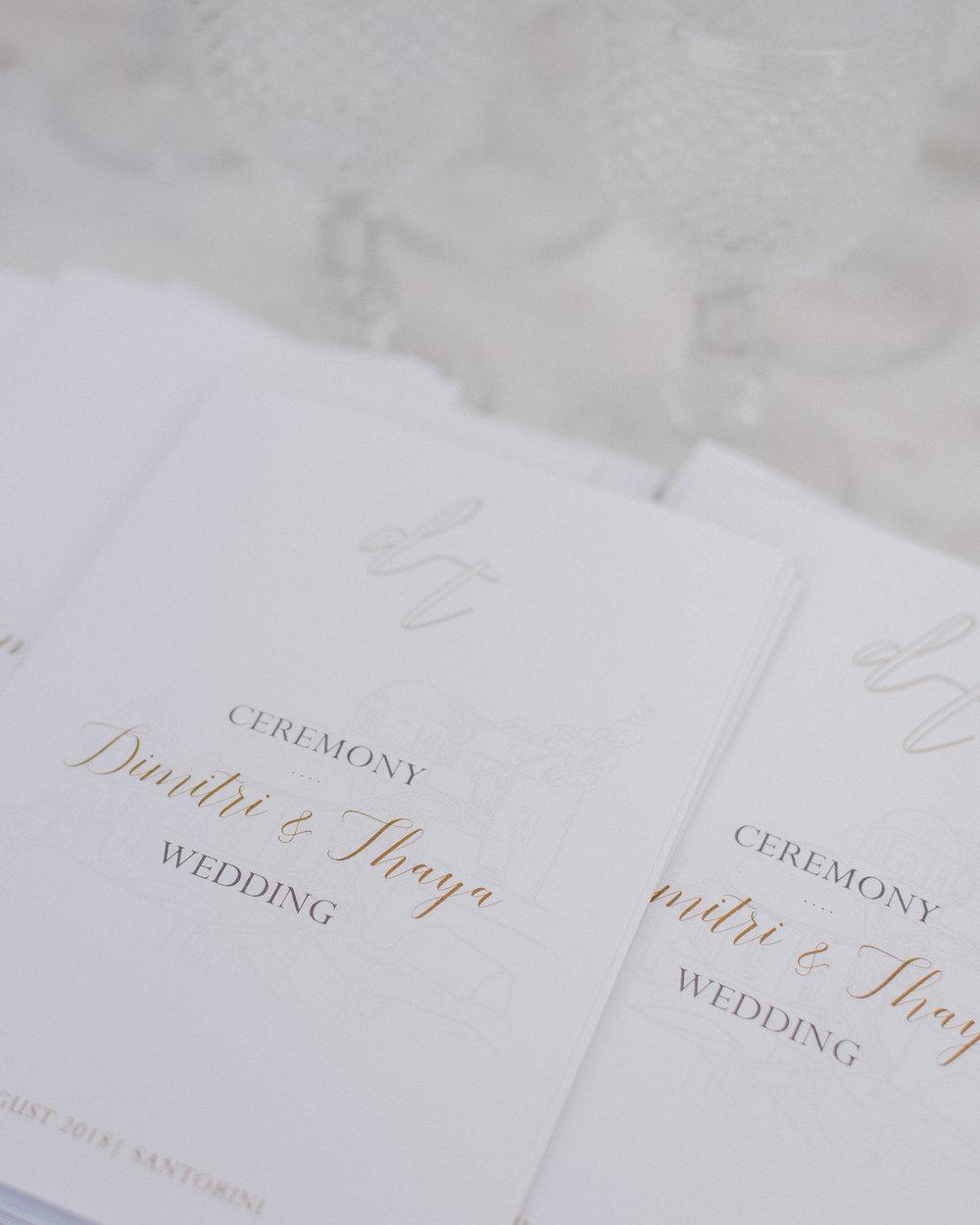 santorini-island-greece-wedding-celebration-ceremony-booklet-bridal-groom-bride-dinner-sunset-rocabella-hotel-silkentile-event-planning-firm
