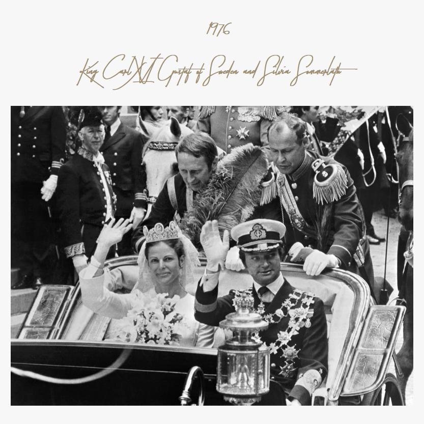 1976 | King Carl XVI Gustaf of Sweden and Silvia Sommerlath