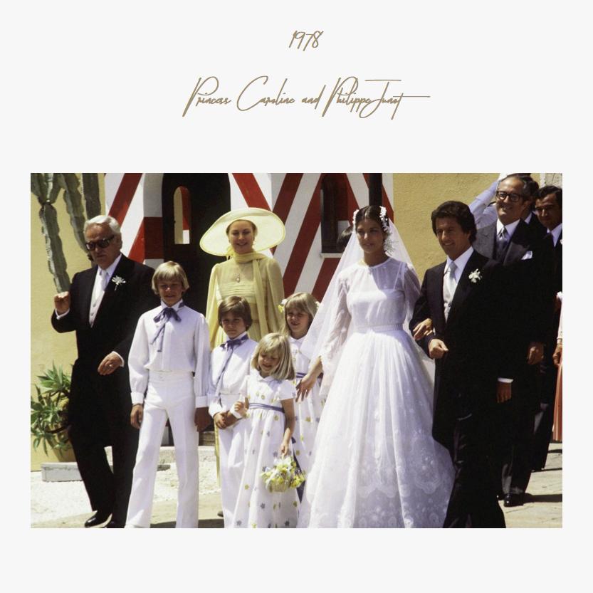 1978 | Princess Caroline and Philippe Junot