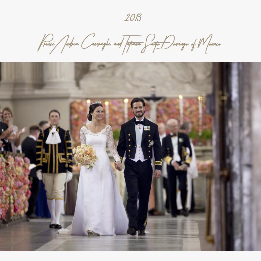 2013 | Prince Andrea Casiraghi and Tatiana Santo Domingo of Monaco