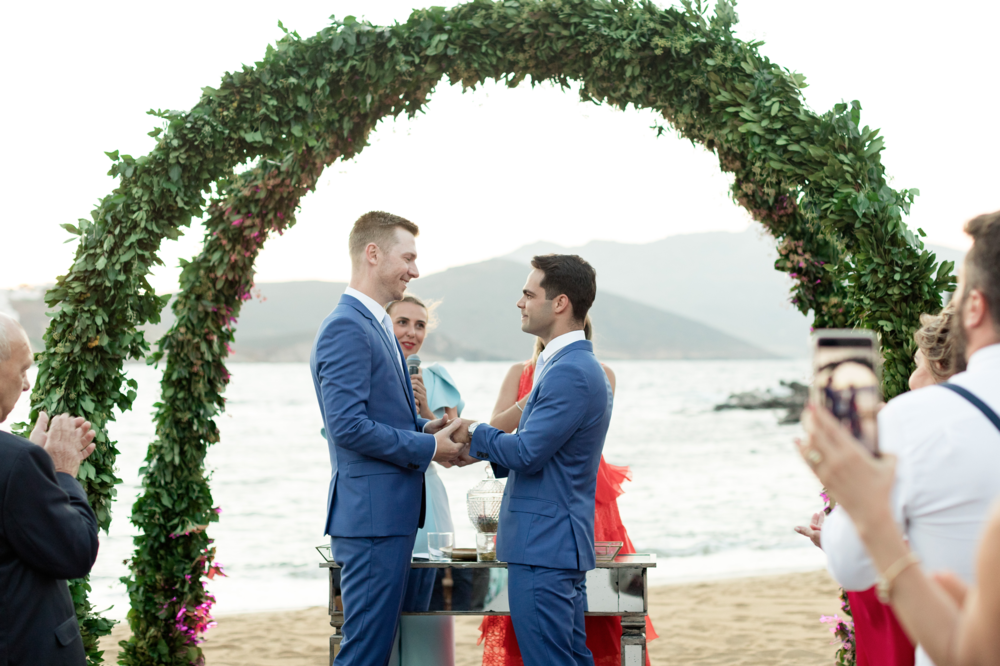destination-brazilian-wedding-mykonos-alemagou-beach-ceremony-sunset-event-planning-firm-silkentile-athens-greece