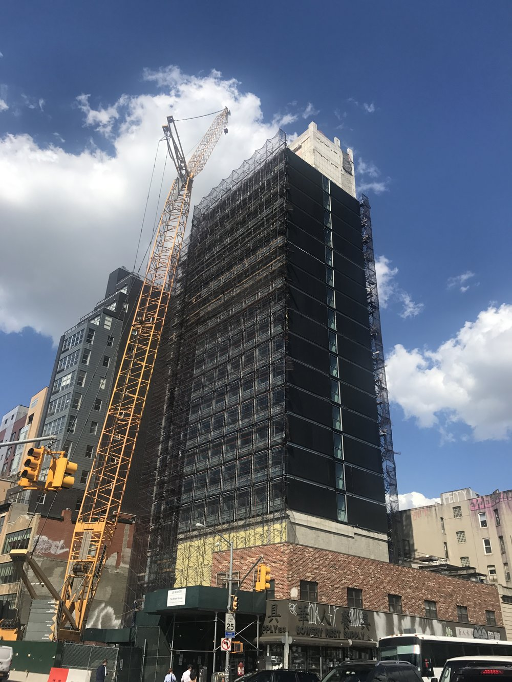 189 Bowery Street (in progress) - Client: citizenM HotelsArchitect: Stephen B Jacobs Group, PC 19-Story, 100,000 sf tallest modular Hotel in the world Services Provided:• Research, Zoning, and Code Consulting• Filing and Approval of all DOB and FDNY related new building applications        • Condo Subdivision• Permit Procurement• Certificate of Occupancy• Walk-through Inspections,  Application Sign-off