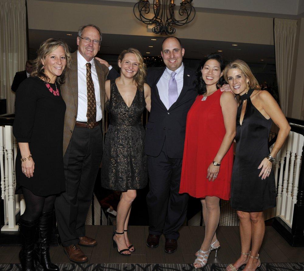 Board Members at Friendsgiving 2017. From L-R: Susan Murphy, Fred Williams, Eva Smith, Dan Hampton, Kim Noel & Janie Stockton.