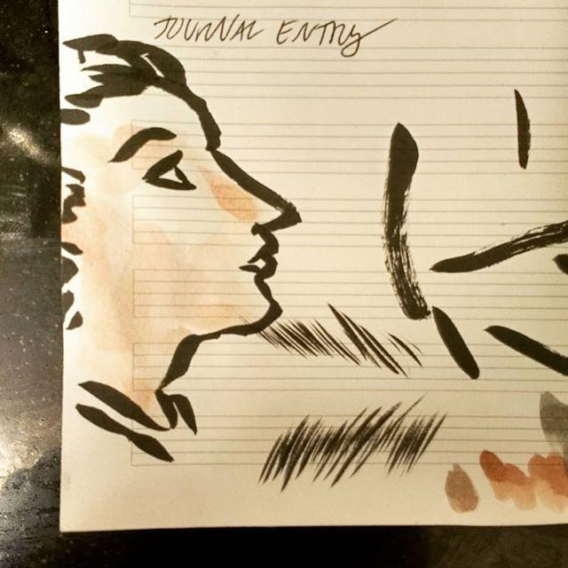 Doodling while on hold. #doodle #brushpen