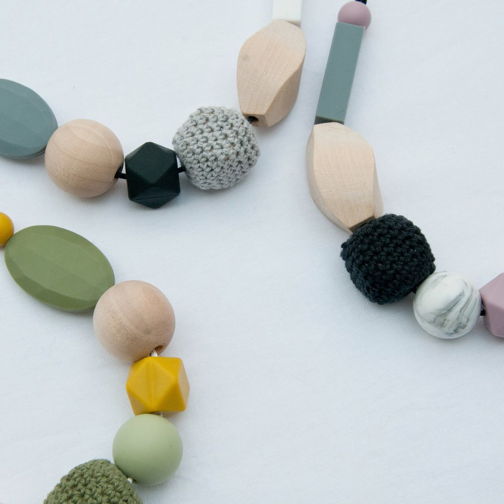 Teething Jewellery - for parents to wear, safe for babies to chew