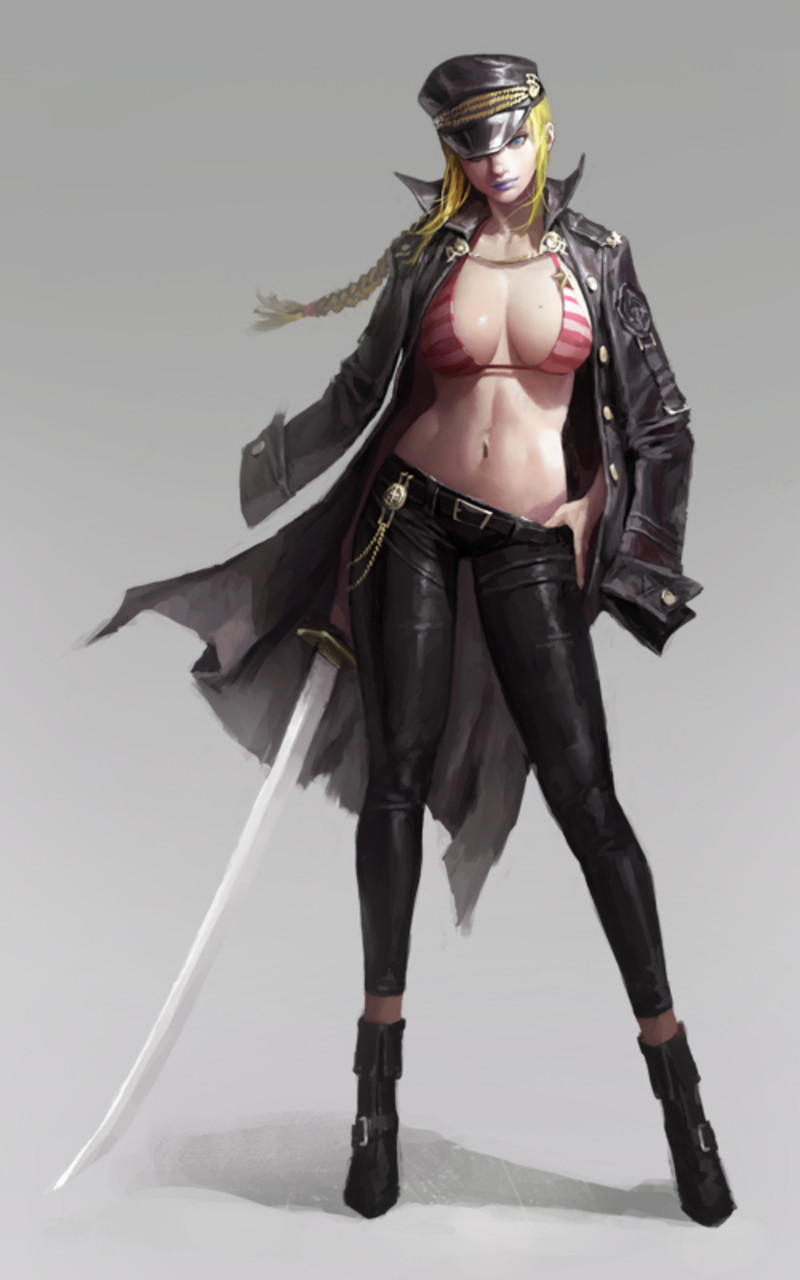 digital female character design by dongho kang fablehatch com