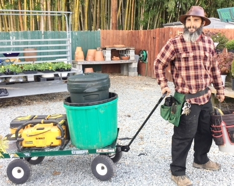 CLINT   Clint is our handyman and builder of all things! He also has a very green thumb. You can typically find him giving our shrubs TLC or building a new table in the garden. Clint and his sweet wife live in a tiny house with their tiny dogs!