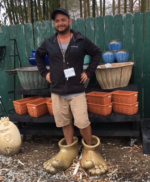 JASON   Jason comes to us from our nursery where he was the lead annual grower for many years. He is now back in the retail world to help you find your new favorite plant! You will probably see him outside taking care of the plants or making our garden beds look nice, or driving the forklift.In his free time he likes to play poker and go to music festivals with his friends.