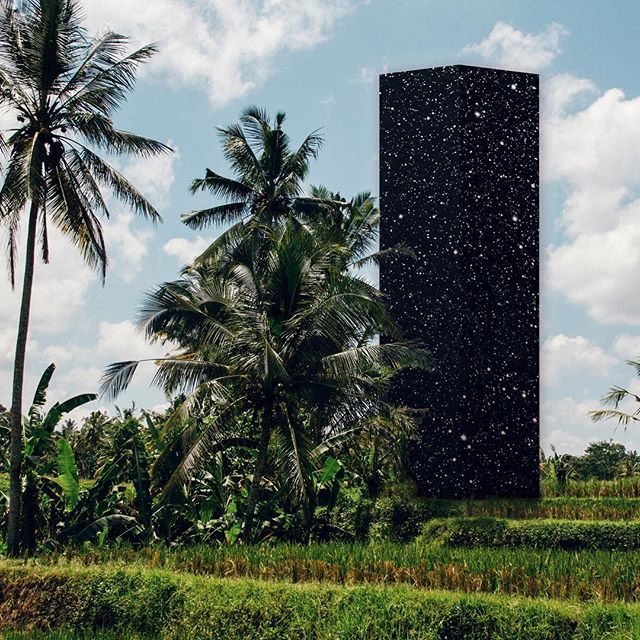 Love the work of ronny hunger ✨🌌🖤 am so proud and grateful to have worked with him on all the branding! #surrealism #kosmicspace #branding #nextlevel #kosmic #naturalcosmetics #bali #naturelove #naturalbeauty #timeforyourspace