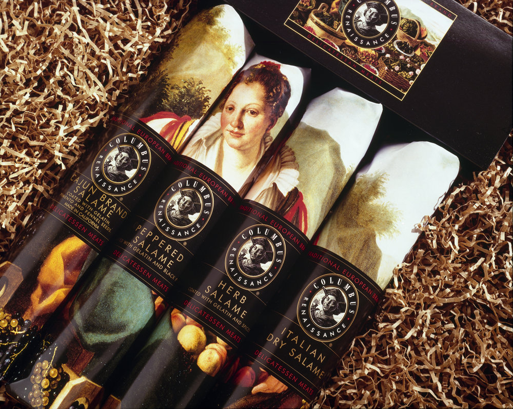 Renaissance paintings were used for specialty holiday packaging for Williams-Sonoma.