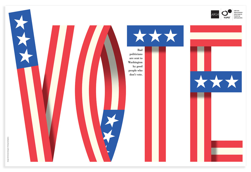 AIGA Get Out the Vote campaign 2000.