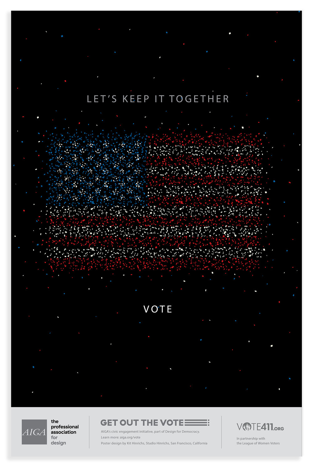 AIGA Get Out the Vote campaign 2016.
