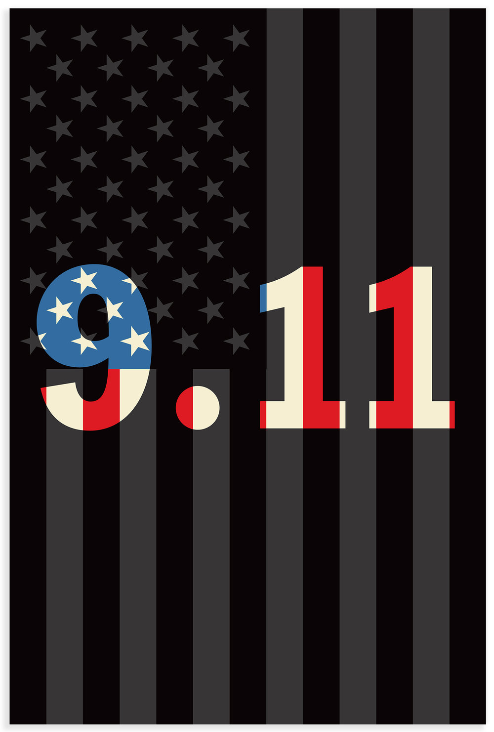 Poster produced in remembrance of those who perished on 9/11.