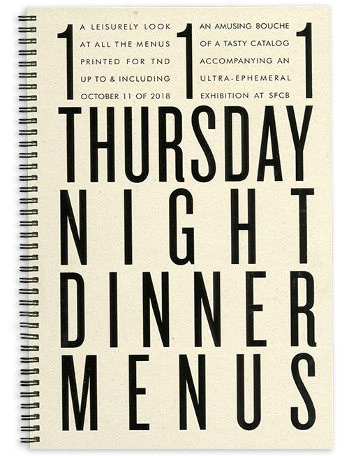 111 Thursday Night Dinner Menus