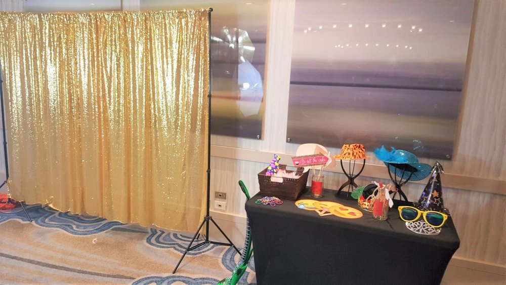 Gold Backdrop with Props