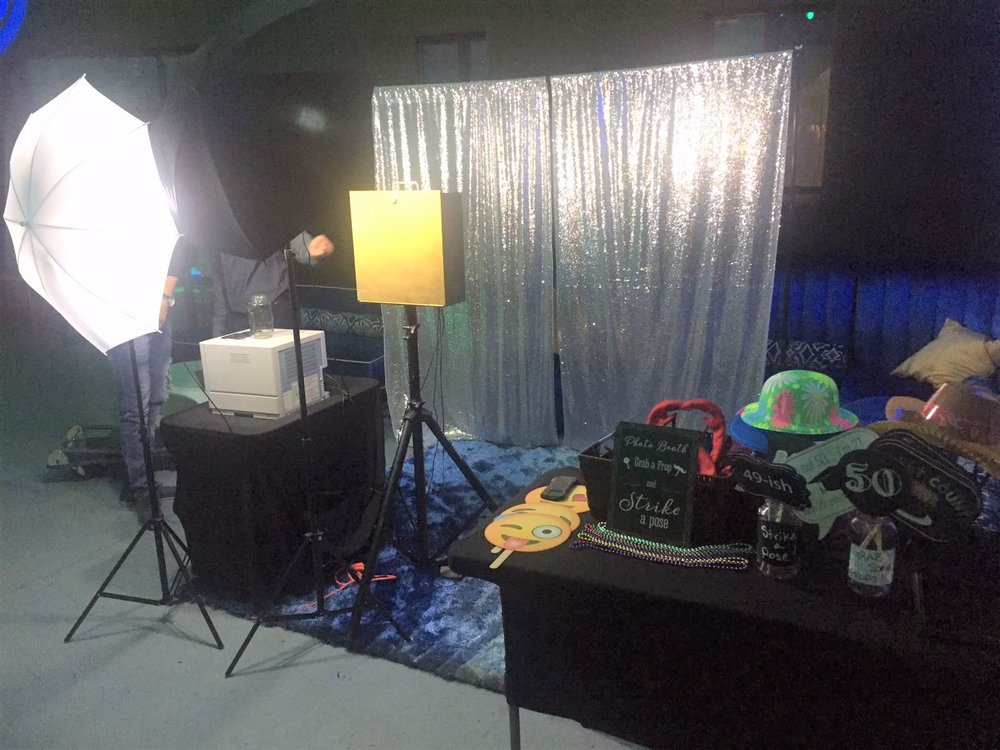 Open Air Photo Booth With Props