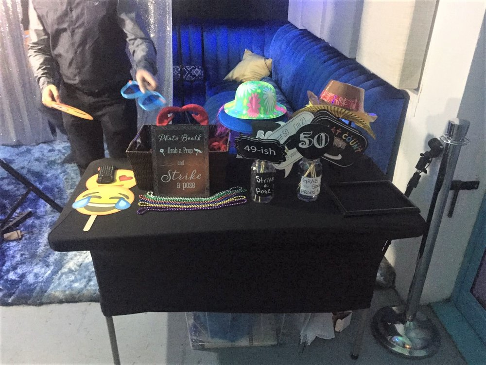 Prop Table for 50th Birthday