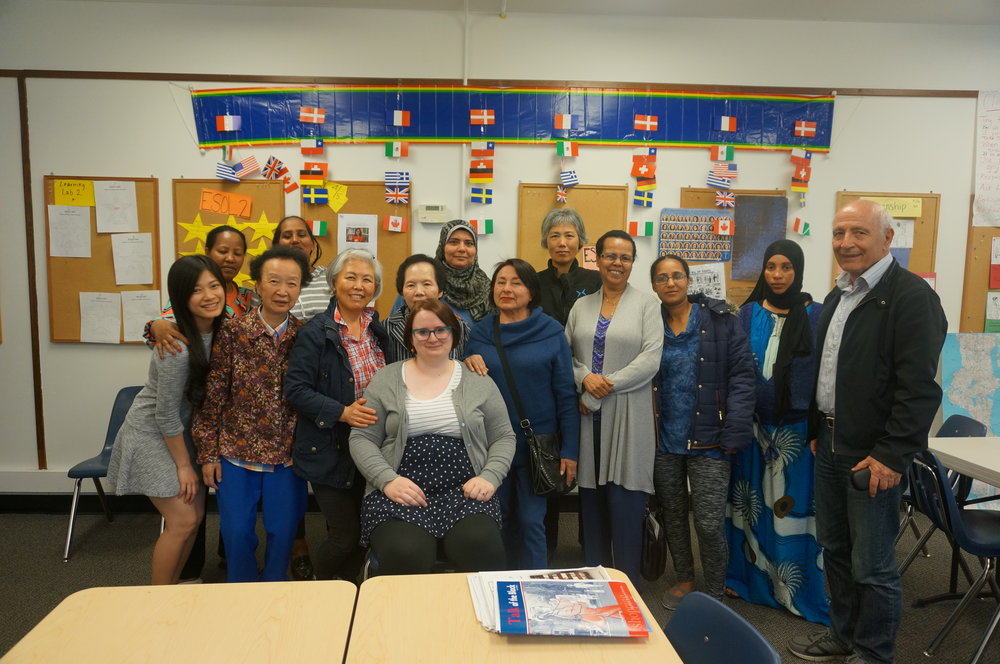 Justine with her current ESOL class!