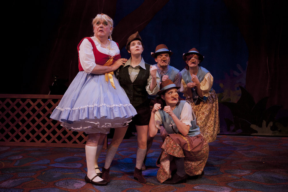 Alan (left) posing in a production of Little Red Riding Hood