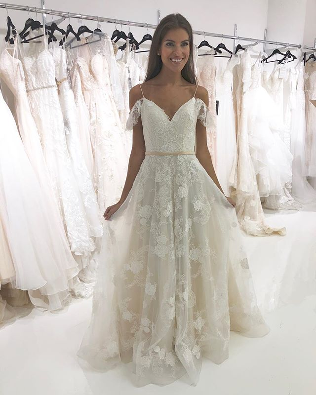 All smiles for our new spring 2018 gowns. Here's a little sneak peak 😍