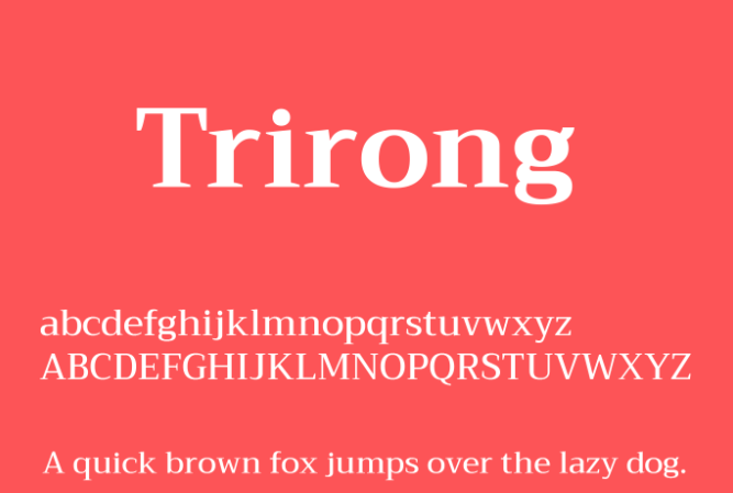 Trirong font pairing hello lovely graphic design newsletter.png