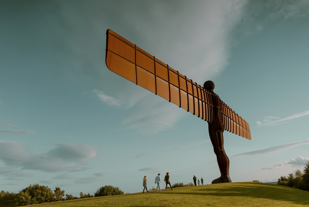 The Angel of the North, art made into a brand by a strong visual presence.