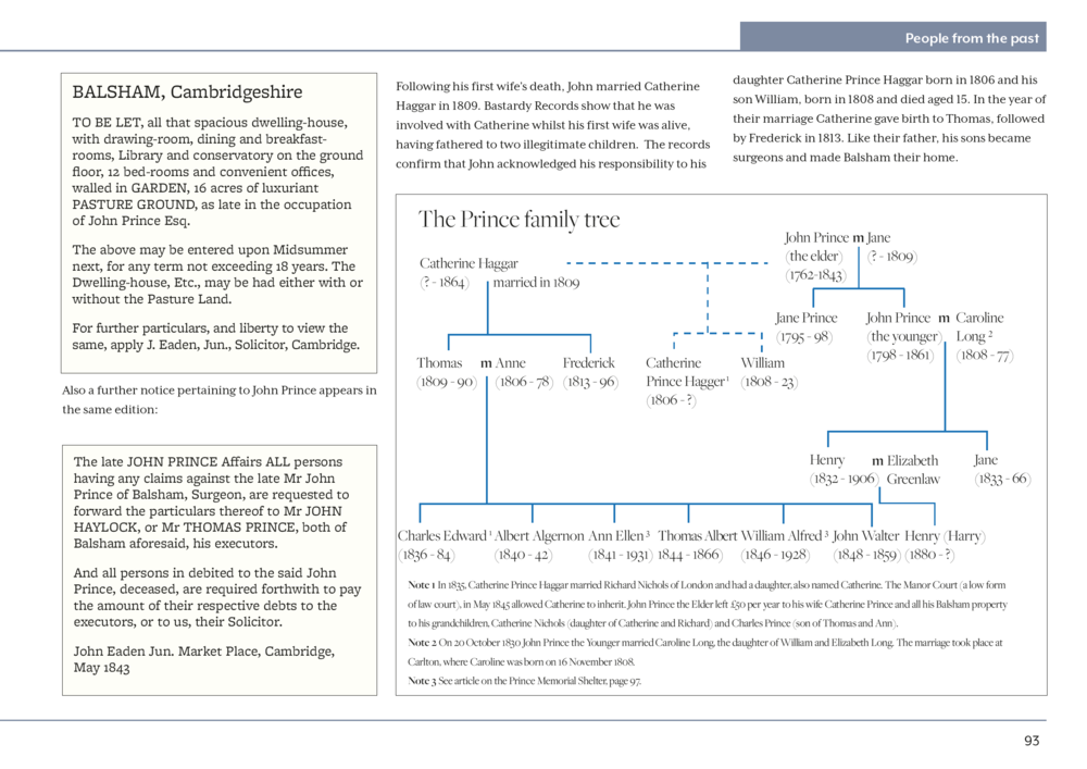 Some of the information was very complex, including the Prince family who named their children after their parents so we suggest a family tree to illustrate the article