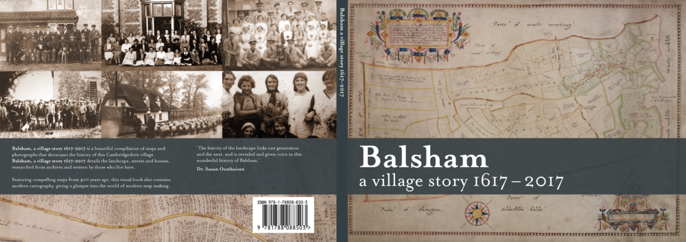 The cover features a map drawn in 1617 and the back cover has images of people who lived in the village in the past