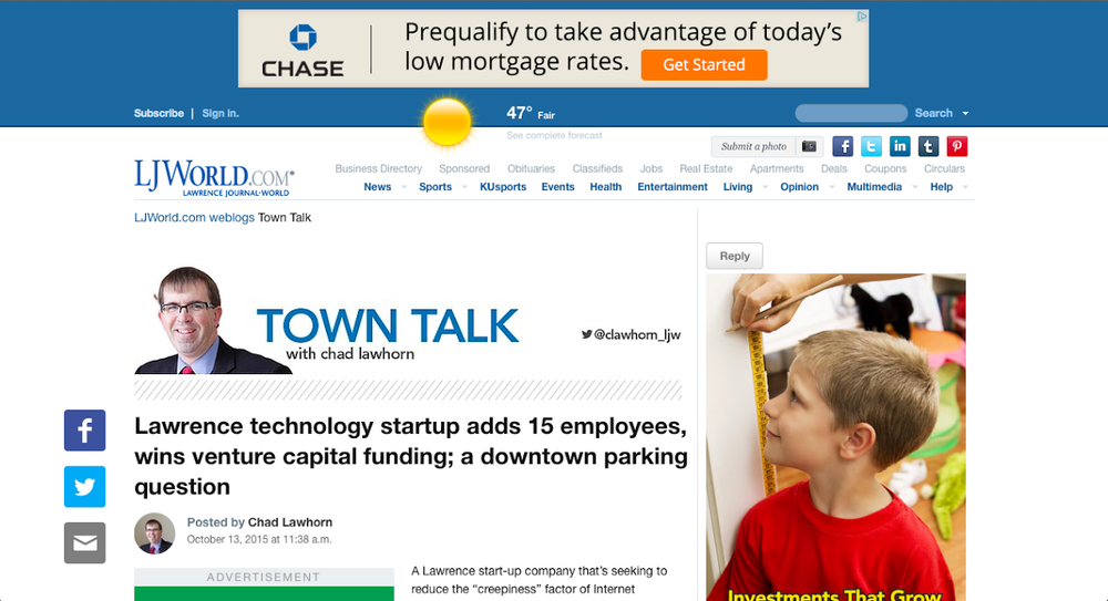 Lawrence Technology Startup Bixy LJWorld.png