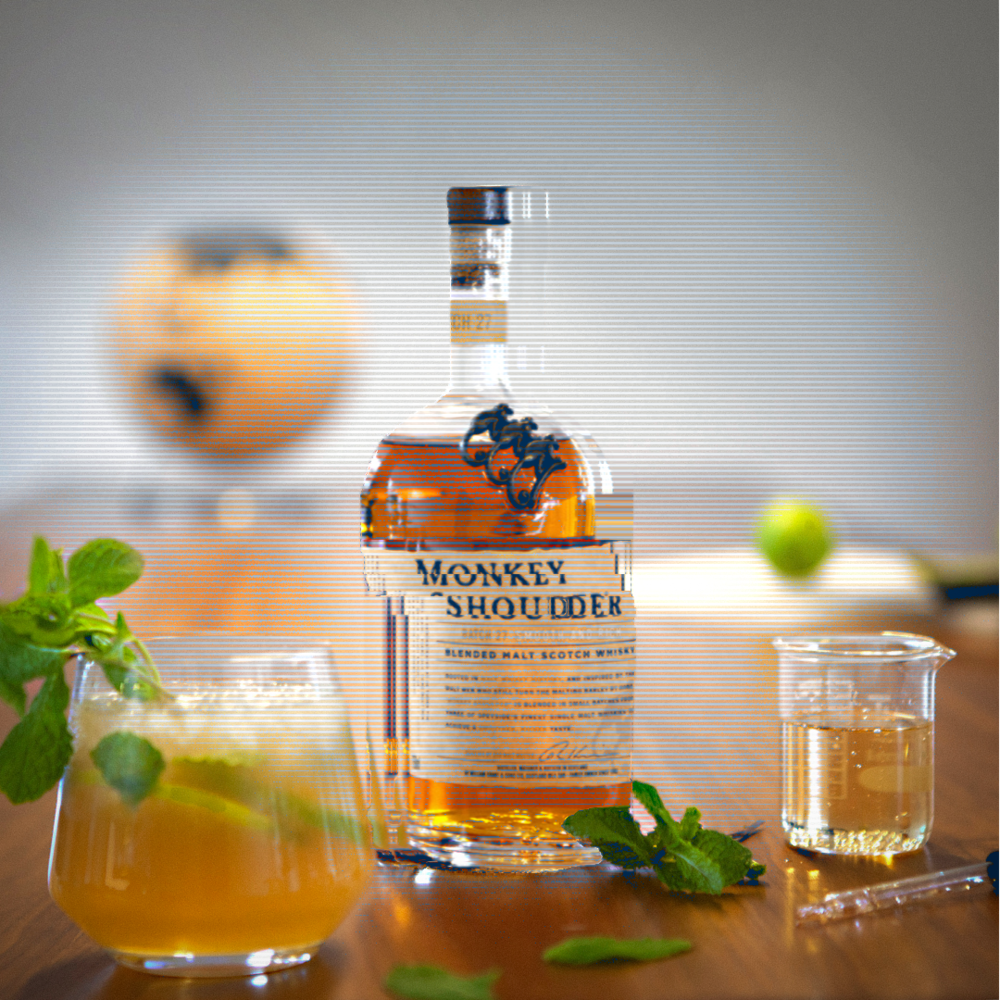 The perfect mix of sugar, spice, and everything nice makes the  #MonkeyMojito  an evolutionary experiment worth trying .  GATHER: 1½ parts Monkey Shoulder ¾ part fresh lime juice 2 ½ parts sugar syrup 1 dash Angostura Bitters 1-2 mint leaves Ginger ale  HUNTER: 1.Add all ingredients to a glass exceptginger ale 2.Muddle well 3.Add crushed ice and stir 4.Top up with ginger ale 5.Garnish with mint leaves and lime wedge  Always measure responsibly.  #MonkeyShoulder