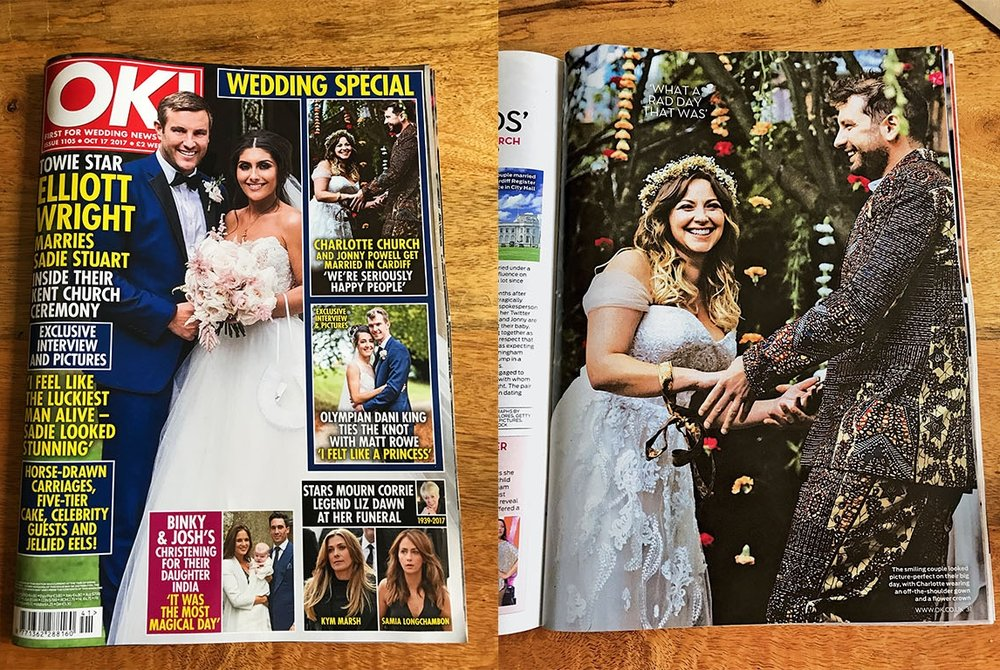 Full page spread & Cover feature in OK! Magazine