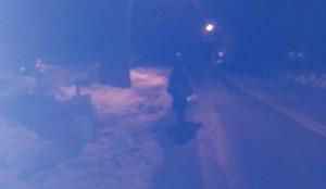 Woman walking on Quaker Path 6:15 on Tuesday Feb 14th