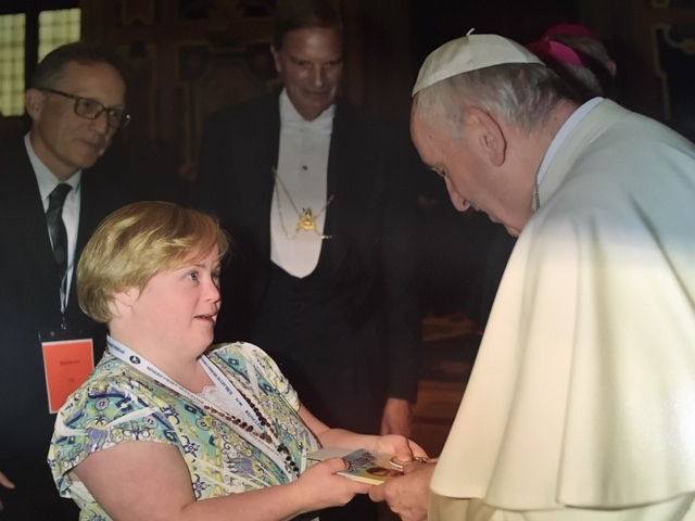 Bridget with the Pope.jpg