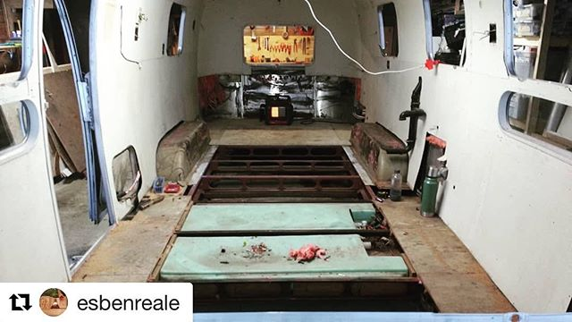 The wheels are in motion.  #airstreamdreams #mobilekitchen #mainecatering #diy #themaineway #thebutcherandthebosen