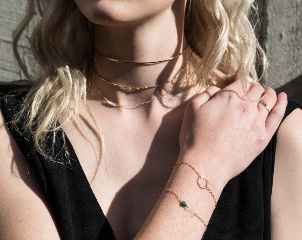 SHOP  ∙  chain choker  ∙  gold choker  ∙  dainty chokers  ∙  delicate bracelets