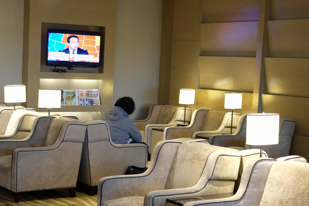 The Plaza Premium Lounge, offers comfortable seating while you wait for your flight and no age restrictions.