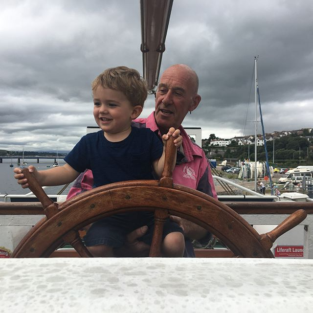 When you're two and your grandad happens to be sailing into town on the biggest boat you've ever seen 😁