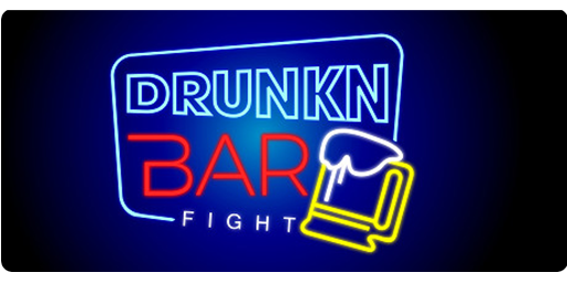 The more you drink, the stronger you get. Fight with or against your friends with everything you'd find at a bar at your disposal!