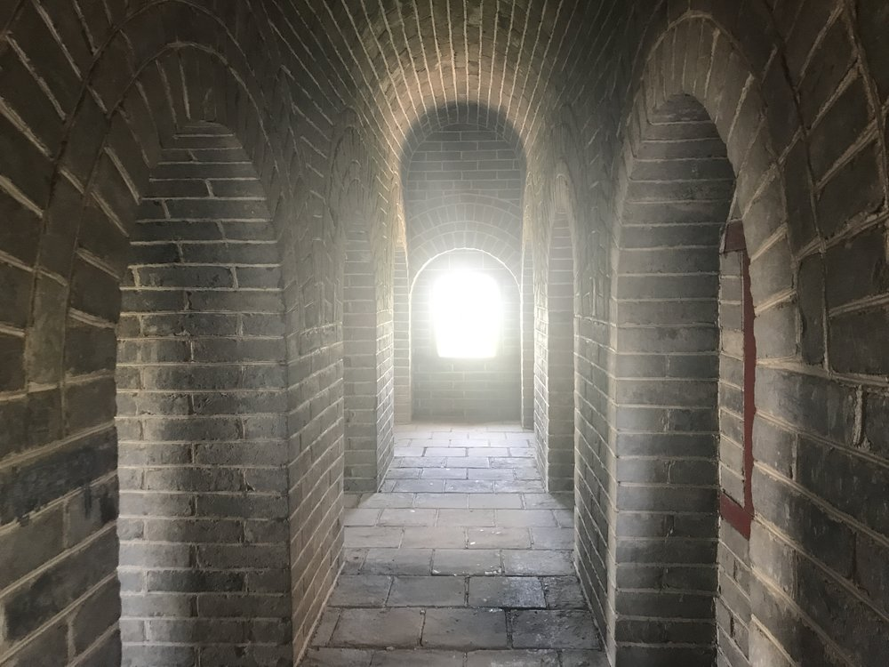 Inside one of the fortresses