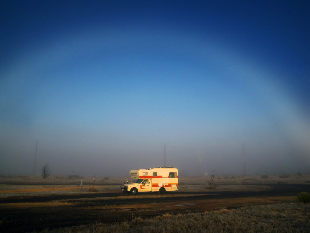 Fogbow, Marfa TX - Photo by Tim Giller