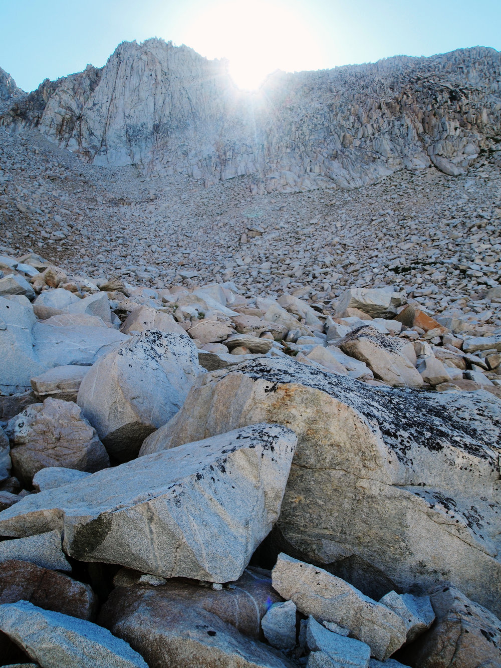 Talus slope, Beartrap Lake, Sierra Nevada - Photo by Tim Giller