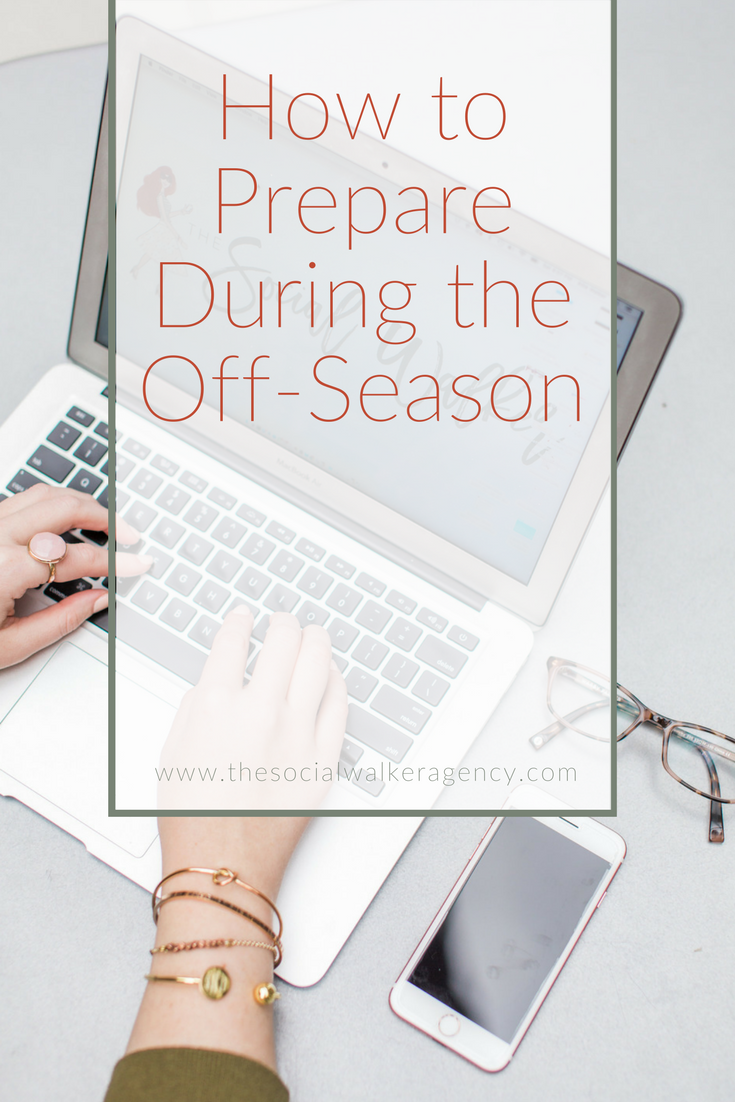 "For some business owners there is a clearly defined ""slow"" or ""off"" season in your business, am I right? That time of year when things come to a complete, or almost, halt.  I know some of you may be thinking ""ha, yea, right, there's no off season for me"". 